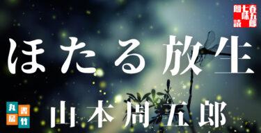 「ほたる放生」 山本周五郎の傑作短編です。ほたるを基軸に、女のはかなさ辛さを描いた岡場所ものの名編!